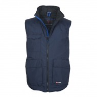 Gilet unisex blu navy/blu royal da personalizzare, con due tasche frontali LOCK SYSTEM Wanted