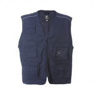 Gilet unisex blu navy da personalizzare, con mezza zip New Safari