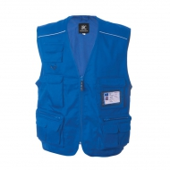 Gilet unisex blu royal da personalizzare, con mezza zip New Safari
