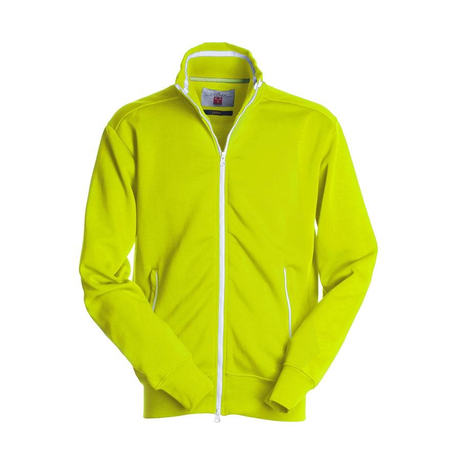 finest selection 94363 de44b Felpa uomo gialla/bianca da personalizzare con zip lunga ...