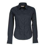 Camicia donna blu navy da personalizzare, con colletto modello italiano Brighton Lady