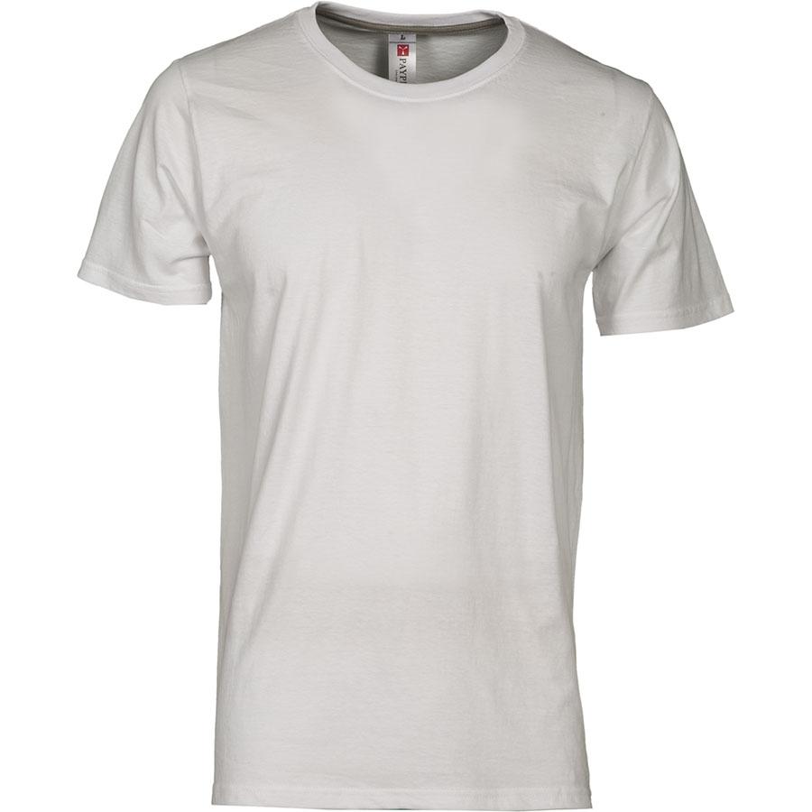 31ccf19cc8b51e T-shirt uomo bianca da personalizzare, girocollo manica corta Sunrise