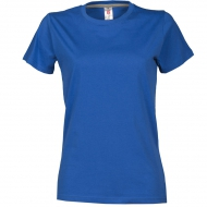 T-shirt donna blu royal da personalizzare, girocollo manica corta Sunrise Lady
