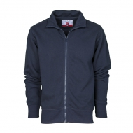 Felpa uomo blu navy da personalizzare con zip intera in plastica Houston
