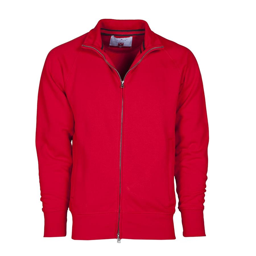 miglior servizio 1a91d 685f4 Felpa uomo da personalizzare rossa con zip lunga Panama ...