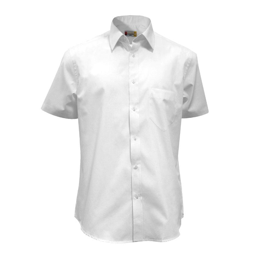watch 32409 57dab Camicia uomo bianca da personalizzare, a manica corta e ...