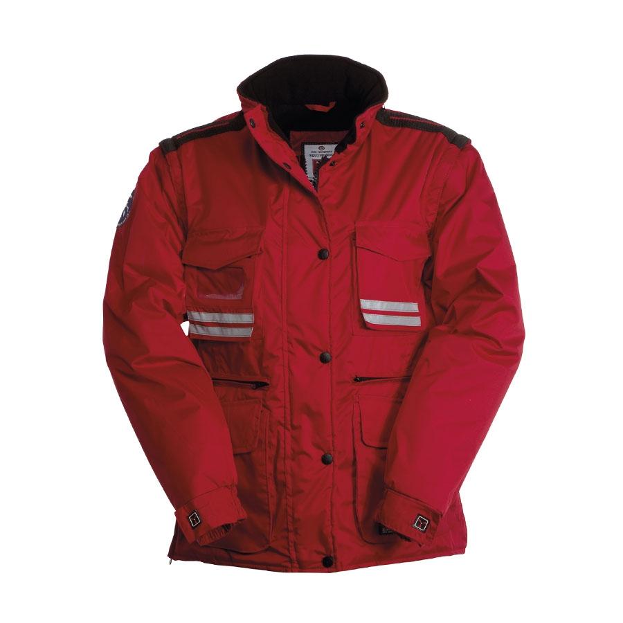 watch 83031 4be7e Giubbotto donna rosso da personalizzare, con cappuccio e ...