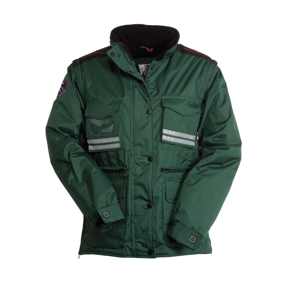size 40 5943f 63346 Giubbotto donna verde da personalizzare, con cappuccio e ...