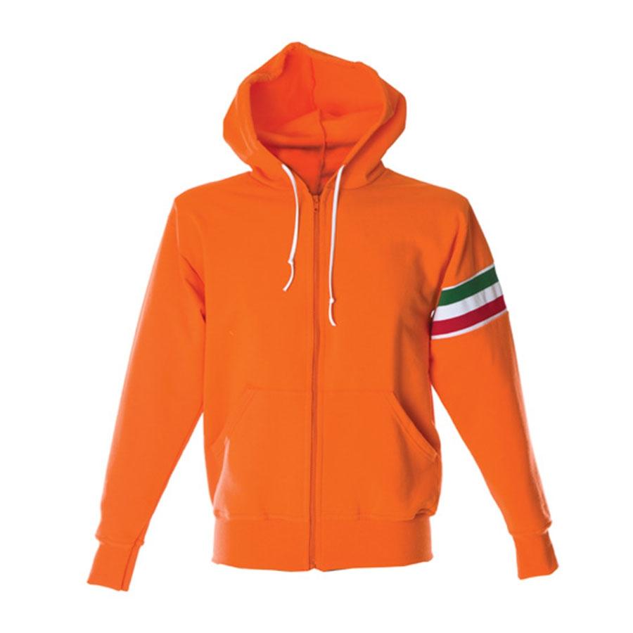 E Da Personalizzare Con Unisex Arancione Zip Fascia Felpa Lunga pwqFf6E