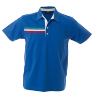 Polo unisex blu royal a manica corta in jersey Budapest