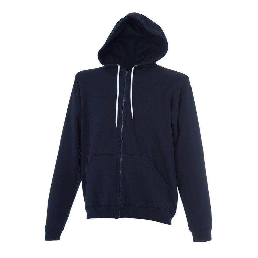 cheap for discount 945dd b288b Felpa uomo blu navy da personalizzare, con zip lunga e ...