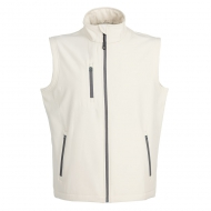 Gilet unisex in Soft Shell a due strati impermeabile Tarvisio Bianco