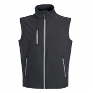 Gilet unisex in Soft Shell a due strati impermeabile Tarvisio Nero