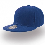 Cappellino blu royal da personalizzare, visiera piatta Kid Snap Back