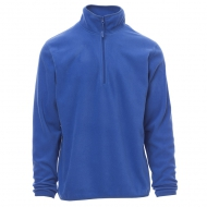 Pile unisex blu royal da personalizzare a mezza zip Soft+