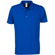 Polo blu royal unisex da personalizzare