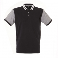 Polo bicolor uomo blu navy / grigio Washington