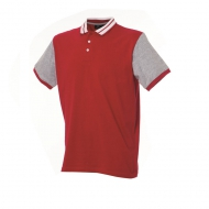Polo bicolore uomo rossa Washington