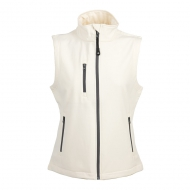 Gilet in soft shell da donna bianco a due strati impermeabile Tarvisio Lady