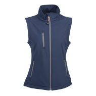Gilet in soft shell da donna blu navy a due strati impermeabile Tarvisio Lady