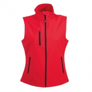 Gilet in soft shell da donna rosso a due strati impermeabile Tarvisio Lady