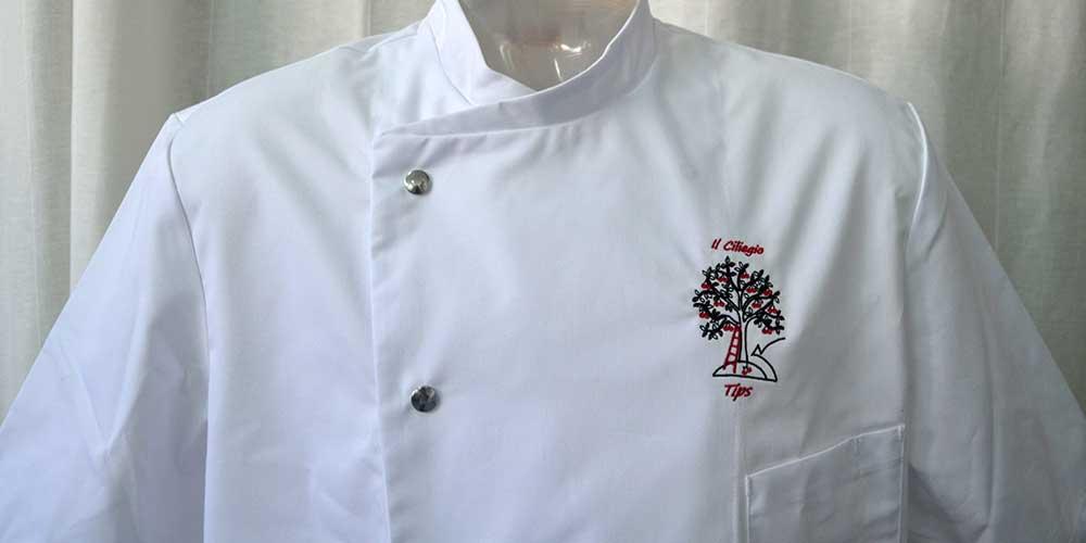Giacca cuoco personalizzata con il tuo logo ricamato aace5d424f8f