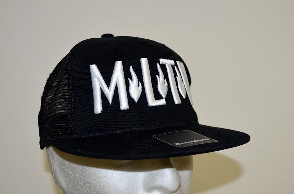Cappellino personalizzato con logo Molotov ricamato in 3D - Laterale 51a08581b019